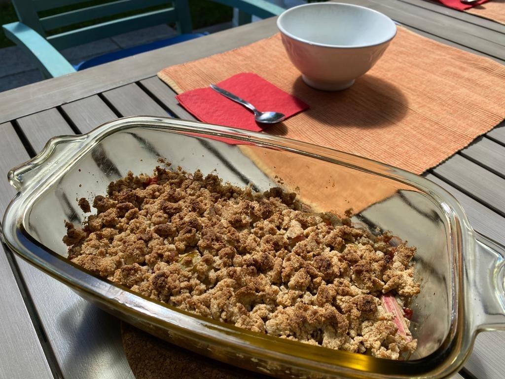 Rezept Erdbeere-Rhabarber-Crumble