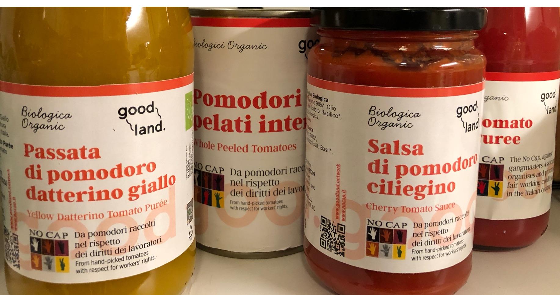 Faire Tomatenprodukte von NoCap aus Italien (Ausschnitt)